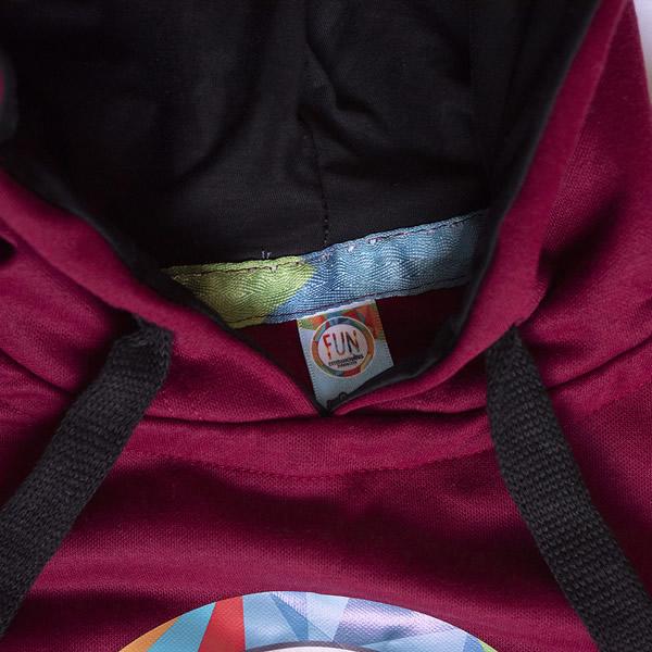 buzo vinotinto fun articulo con capota esteban chaves