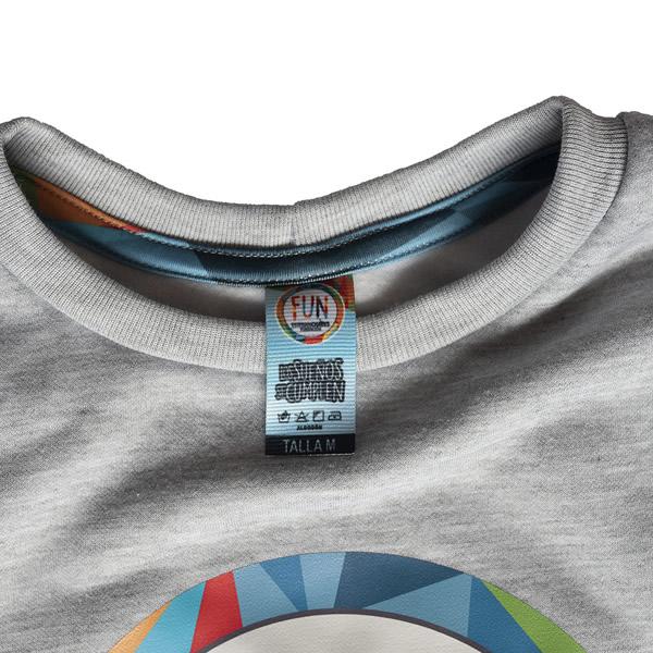 cuello redondo buzo gris etiqueta fun esteban chaves